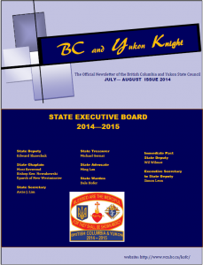 July-August State Newsletter